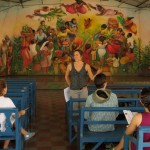 Andrea Kraybill explained the social programs at Batahola Norte