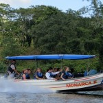 Fast speedboat on Rio Escondido