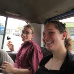Josh and Maria in the microbus from Diriamba.