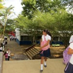 Students at the Jose Rodriguez secondary school