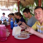 Yuriy has become a big fan of Nicaraguan rice and beans.