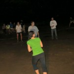 A scene from our night volleyball game
