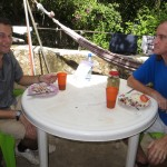 Aaron has lunch with station director Jeffrey McCrary