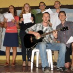 Ana's class sang Nicaragua Mia, a popular folk song expressing how glad one is to be Nicaraguan