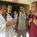 Dr Osvaldo Mercado explains the services available at the Jinotepe hospital