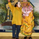 Language teachers Ana and Mirna performed a popular Nicaraguan folk dance