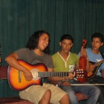 Los Rusticos accompany Dalena as she sings a popular Nicaraguan folk song