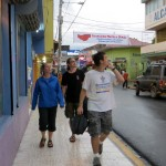 Students stroll on the main street of Matagalpa