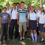 Alejandro with some of his students.