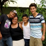 Alejandro's host family.
