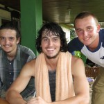 Bobby, Robert, Aaron and Yuriy.  Aaron was not at the beach.  He got caught in the rain on the way to Quinta Goshen.