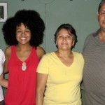 Cora with sister Maria Alejandra and host parents Sandra and Eliseo.