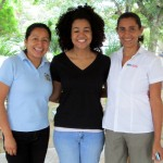 Erika, on the left, is the program coordinator.  Cora and Melba, on the right, are facilitators.