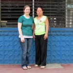 Haley and Maria, the director of the school.
