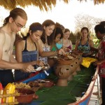 Lunch, served from an old boat, was Caballo Bayo, a traditional Nicaraguan collection of foods.