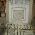 The tomb of Ruben Dario in the Leon Cathedral.