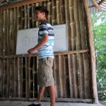 This bamboo hut is one of the places Alejandro gives English classes.  He showed us how he led a lesson on time.