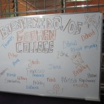 A special welcome for Goshen College SSTers