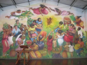 One of the many murals at Batahola Norte