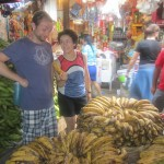 Martin and Anna pricing the bananas
