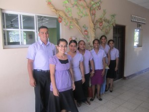 Staff at Carazo Christian Academy, a private elementary school near Dolores