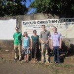 Jared, Ashley, Hillary, Peter, and Martin visited Carazo Christian Academy, near Dolores