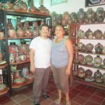 Juan Paulino and Azucena in their shop
