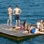 The floating dock at Abuela's
