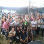 A visiting high school group with the English class (and Hillary and Blake) at Batahola Norte