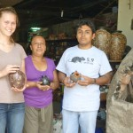Kara with host mom and brother, both of whom work in the family ceramic business