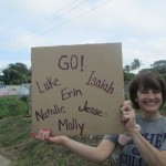 Pamela is ready to cheer on our GC runners.