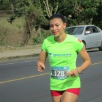 The top female finisher.