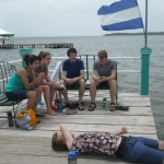Relaxing on the dock.