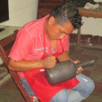 Etching the pottery