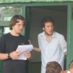 Aaron & Jesse looking quite intent on their final morning of Spanish class.