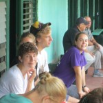Natalie, David P., Molly and others gathering and preparing the last morning at CEPAD-the site of Spanish classes.