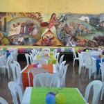 Jinotepe City Hall/Convention Center prepared for the Despedida.