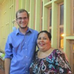 Wade, a.k.a, Mateo, with his host mom.