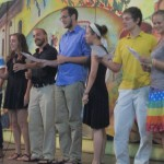 Students share a special song they prepared in Spanish class.