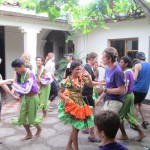 Joining the dancers in Masatepe