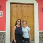 Maddie and Brianne across the street from Brianne's host family's home in Estelí .