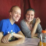 Enjoying lunch with Sophie and Emma in Matagalpa.