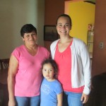 Molly with her host mom and sister in their Jinotega home
