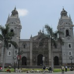 Cathedral in downtown Lima