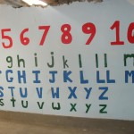 A newly-painted set of numbers and letters