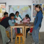 The older students learn English