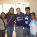 Erika and Callie with staff from the orphanage