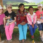 With Quechua-speaking girls