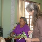 Alicia identifies medicinal herbs while Jane translates