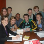 Moises, center, teaches the Sierra (mountains) class